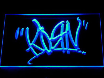 Korn Script LED Neon Sign - Blue - SafeSpecial