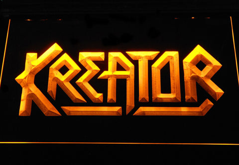Kreator LED Neon Sign - Yellow - SafeSpecial