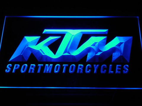 KTM LED Neon Sign - Blue - SafeSpecial