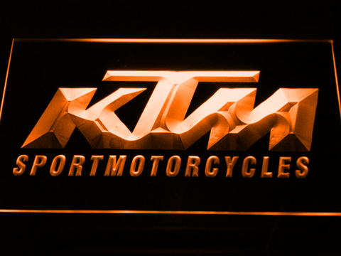 KTM LED Neon Sign - Orange - SafeSpecial