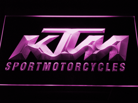 KTM LED Neon Sign - Purple - SafeSpecial