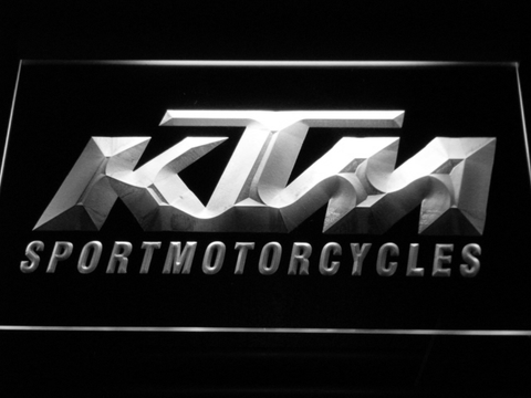 KTM LED Neon Sign - White - SafeSpecial