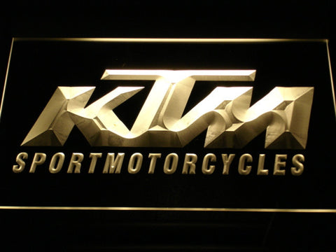 KTM LED Neon Sign - Yellow - SafeSpecial