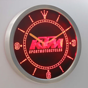 KTM LED Neon Wall Clock - Red - SafeSpecial