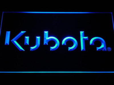 Kubota LED Neon Sign - Blue - SafeSpecial