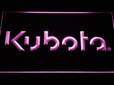 Kubota LED Neon Sign - Purple - SafeSpecial