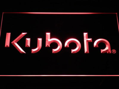 Kubota LED Neon Sign - Red - SafeSpecial