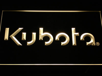 Kubota LED Neon Sign - Yellow - SafeSpecial