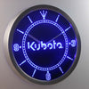 Kubota LED Neon Wall Clock - Blue - SafeSpecial