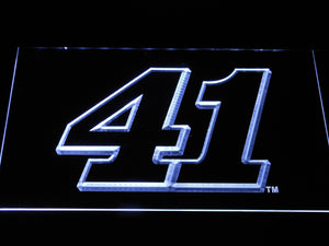 Kurt Busch 41 LED Neon Sign - White - SafeSpecial