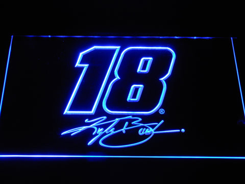 Kyle Busch Signature 18 LED Neon Sign - Blue - SafeSpecial