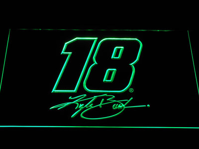 Kyle Busch Signature 18 LED Neon Sign - Green - SafeSpecial