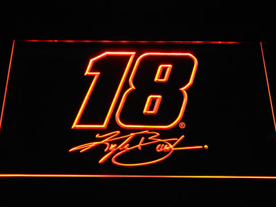Kyle Busch Signature 18 LED Neon Sign - Orange - SafeSpecial