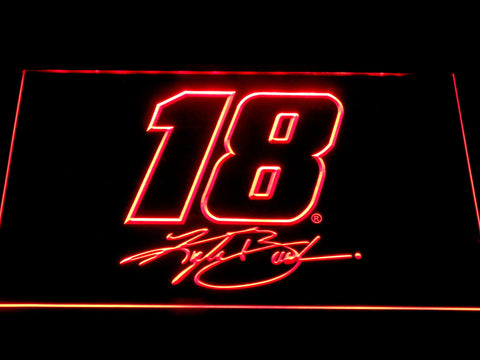 Image of Kyle Busch Signature 18 LED Neon Sign - Red - SafeSpecial