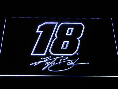 Kyle Busch Signature 18 LED Neon Sign - White - SafeSpecial