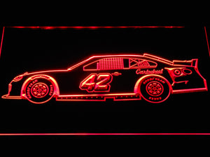 Kyle Larson Race Car LED Neon Sign - Red - SafeSpecial