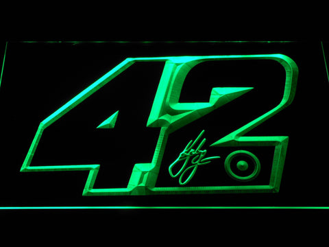 Kyle Larson Signature 42 LED Neon Sign - Green - SafeSpecial
