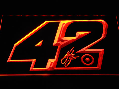 Kyle Larson Signature 42 LED Neon Sign - Orange - SafeSpecial