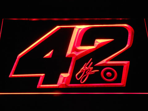 Kyle Larson Signature 42 LED Neon Sign - Red - SafeSpecial