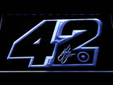 Kyle Larson Signature 42 LED Neon Sign - White - SafeSpecial