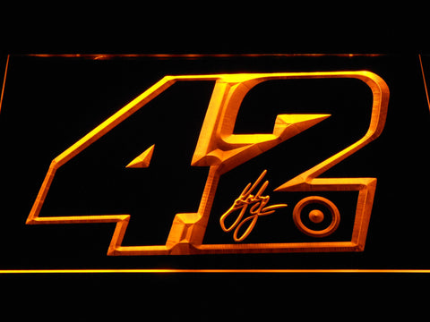 Kyle Larson Signature 42 LED Neon Sign - Yellow - SafeSpecial