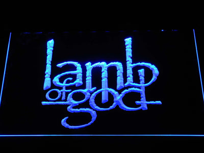 Lamb of God LED Neon Sign - Blue - SafeSpecial