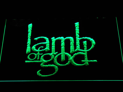 Image of Lamb of God LED Neon Sign - Green - SafeSpecial