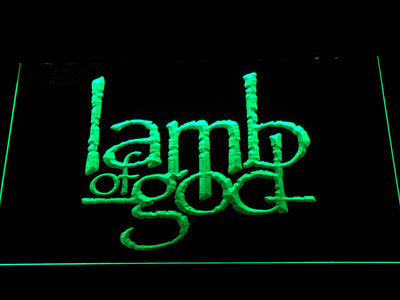 Lamb of God LED Neon Sign - Green - SafeSpecial