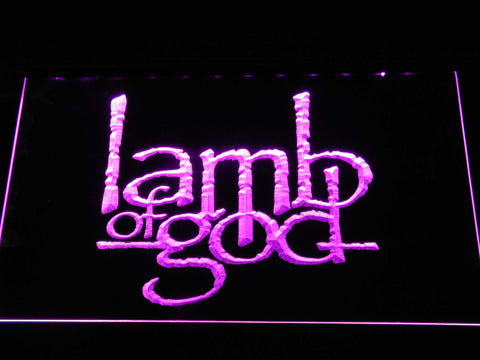 Image of Lamb of God LED Neon Sign - Purple - SafeSpecial