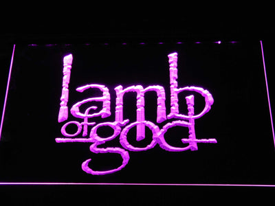 Lamb of God LED Neon Sign - Purple - SafeSpecial