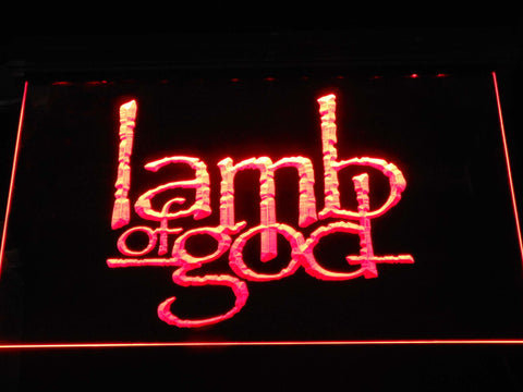 Lamb of God LED Neon Sign - Red - SafeSpecial