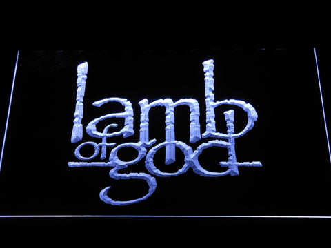 Image of Lamb of God LED Neon Sign - White - SafeSpecial