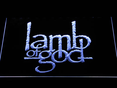 Lamb of God LED Neon Sign - White - SafeSpecial