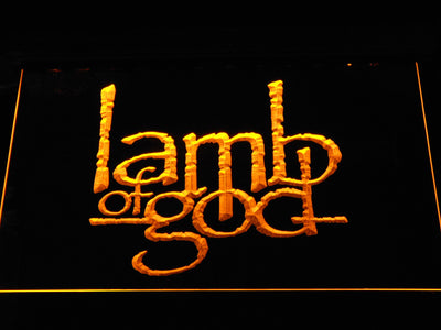 Lamb of God LED Neon Sign - Yellow - SafeSpecial