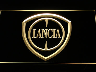 Lancia LED Neon Sign - Yellow - SafeSpecial