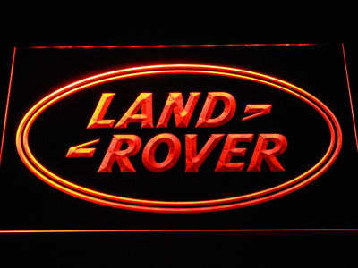 Land Rover LED Neon Sign - Orange - SafeSpecial