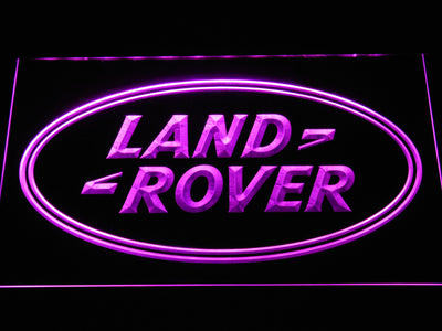 Land Rover LED Neon Sign - Purple - SafeSpecial