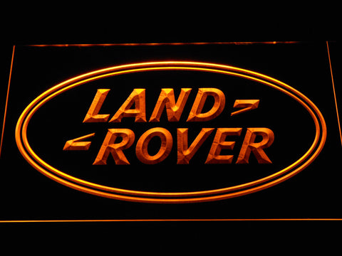 Image of Land Rover LED Neon Sign - Yellow - SafeSpecial