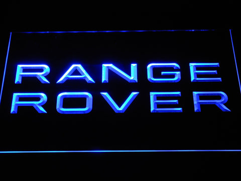 Image of Land Rover Range Rover LED Neon Sign - Blue - SafeSpecial