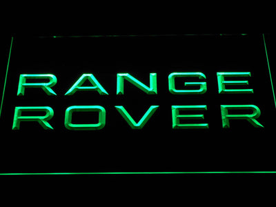 Land Rover Range Rover LED Neon Sign - Green - SafeSpecial
