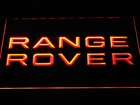 Image of Land Rover Range Rover LED Neon Sign - Orange - SafeSpecial