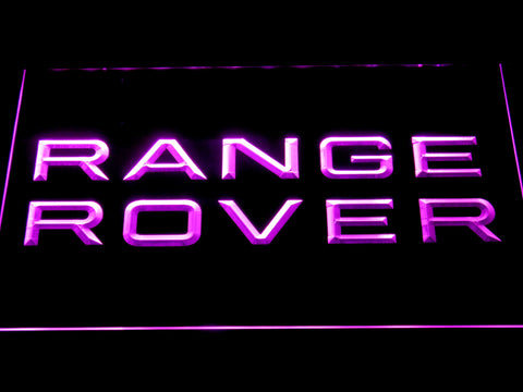 Image of Land Rover Range Rover LED Neon Sign - Purple - SafeSpecial