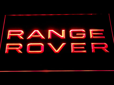 Image of Land Rover Range Rover LED Neon Sign - Red - SafeSpecial