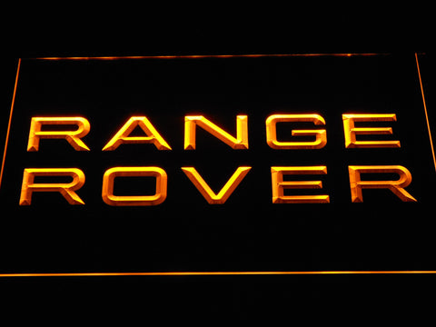 Image of Land Rover Range Rover LED Neon Sign - Yellow - SafeSpecial