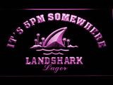 Landshark It's 5pm Somewhere LED Neon Sign - Purple - SafeSpecial