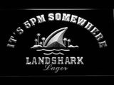 Landshark It's 5pm Somewhere LED Neon Sign - White - SafeSpecial