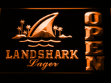 Landshark Open LED Neon Sign - Orange - SafeSpecial