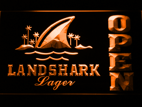 Image of Landshark Open LED Neon Sign - Orange - SafeSpecial
