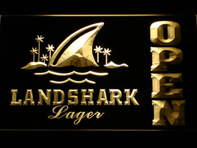 Landshark Open LED Neon Sign - Yellow - SafeSpecial