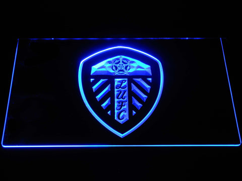Image of Leeds United Football Club LED Neon Sign - Blue - SafeSpecial